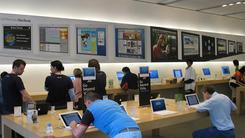 部分苹果店移除iPhone展示机安全绳