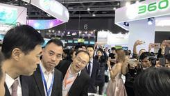 中国移动董事长尚冰现身360手机展台