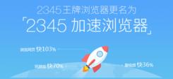 2345王牌浏览器PC版更名加速浏览器