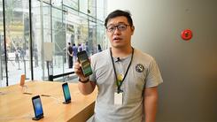 京城iPhone 7首销盛况及店内上手体验