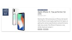 排名老二 iPhone X DxO拍照得分出炉