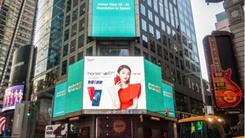 荣耀V10登纽约时代广场 AI席卷全球