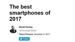 雅虎评选2017年度最佳手机 你同意吗