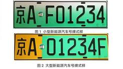 北京28日起  启用新能源车专用号牌
