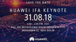 麒麟980?华为8.31将在德国IFA上进行主题演讲