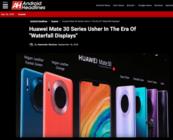 """外媒Android Headlines盛赞Mate 30系列,开启""""环幕屏""""时代!"""