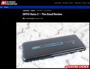 "Android Headlines把Reno2列为了""Editors Choice"""