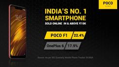 2018Q4季度小米POCO F1夺得印度市场高端机第一