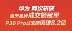 618大促华为P30 霸榜  包揽多个榜单