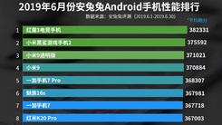 安兔兔6月安卓手机性能榜公布 骁龙855机型霸榜