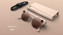 Snap新拍照眼镜Spectacles 3 双镜头支持3D拍摄