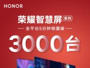 首款鸿蒙OS产品开售 荣耀智慧屏首销5分钟破3000台