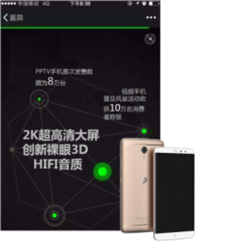 """【新闻稿】 PPTV裸眼3D手机创新体验集""""赞""""出位-0115180"""