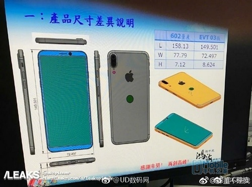 iPhone 8 设计图曝光 屏占比接近S8