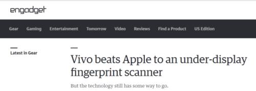"""vivo隐形指纹带来极致体验,这下全球的媒体""""疯狂了""""1200"""