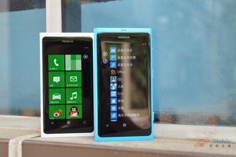 双色诺基亚Lumia800 精致无懈可击图赏