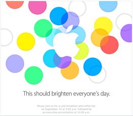 苹果发出邀请函 9月10日推新iPhone