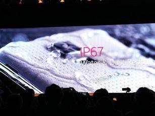 支持IP67的三星S5 测试防水防尘性能
