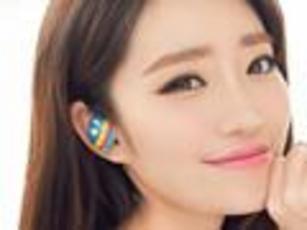 时尚女性蓝牙4.0立体声镶钻耳机图赏