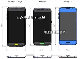 三星Galaxy S7外观尺寸曝光 变化很小