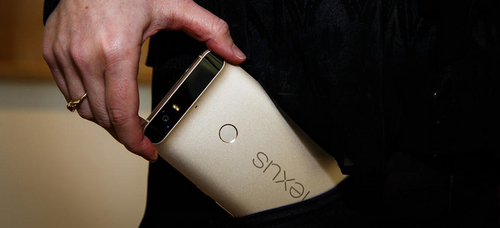 高端大气 华为金色版Nexus 6P真机图赏