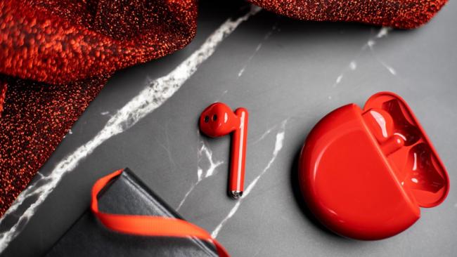 最适合圣诞、新年的无线降噪耳机 华为FreeBuds3蜜语红评测