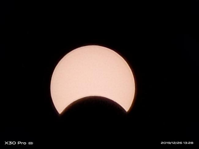 惊艳!看看vivo X30 Pro镜头下的日偏食
