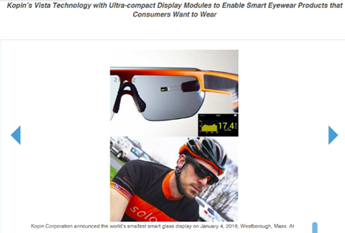 CES抢鲜看:KOPIN即将发布智能眼镜新技术-1