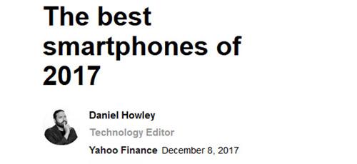 雅虎评选2017年度最佳手机 国产仅一加5T上榜