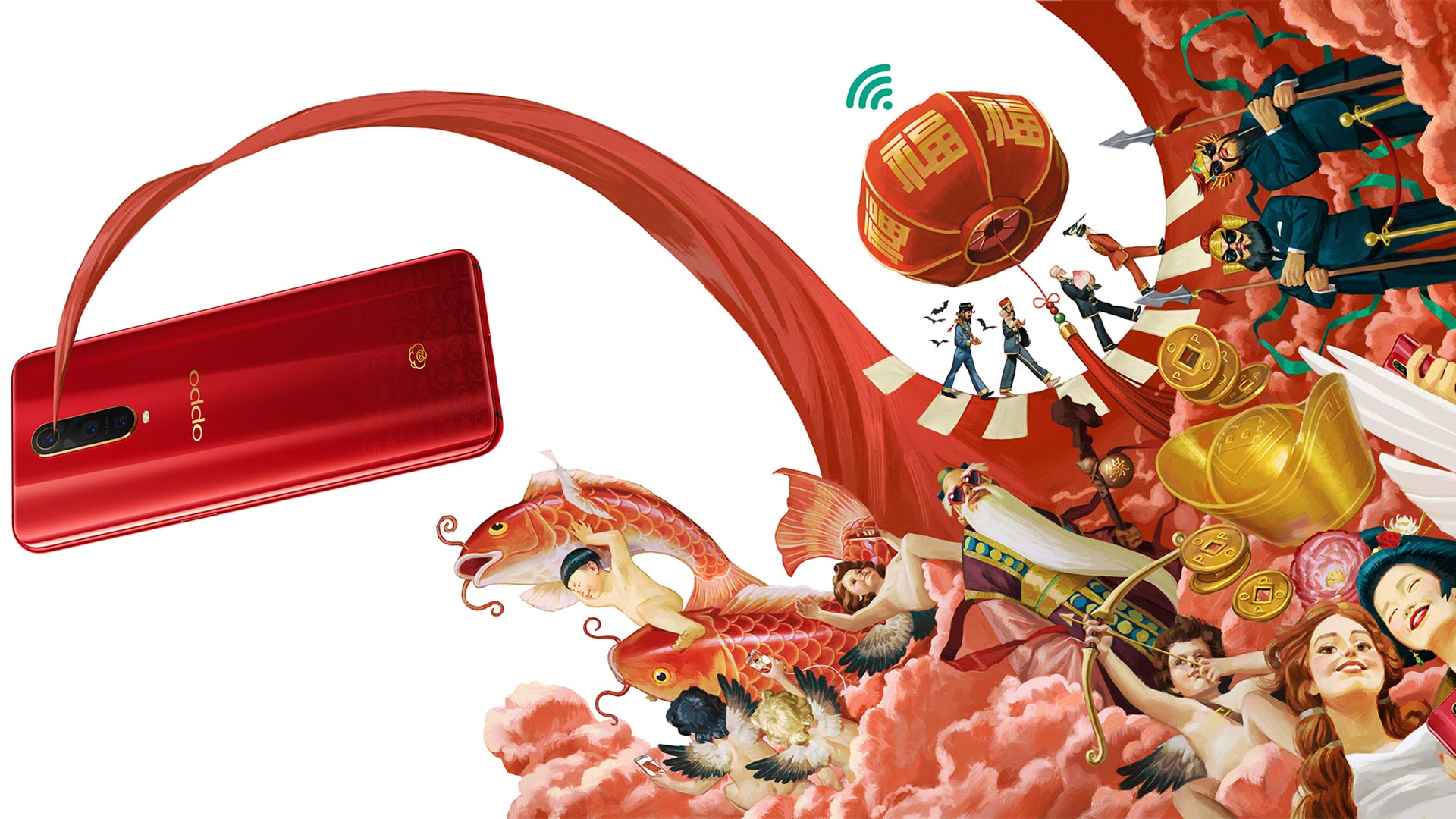 非常用心!盘点OPPO奇幻新年插画的奇趣彩蛋